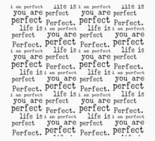 i am perfect you are perfect life is perfect black white small T-Shirt