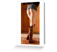 Leather Denim Flesh and Reflection 3 Greeting Card