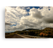Believe sign on highway Canvas Print