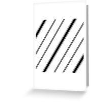Black and White Freeway Greeting Card