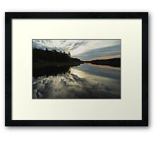 Sun Behind The Clouds Framed Print