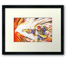 Captain Falcon   Falcon Punch Framed Print