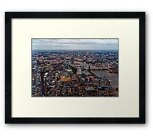 Aerial View of London at Twilight, United Kingdom Framed Print