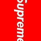 Red Supreme Iphone Case by MC3Matt