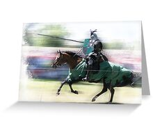 Jousting Knight  Greeting Card