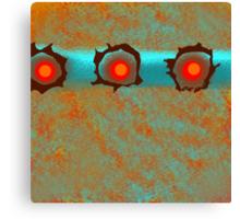 Wild Aqua and Orange Abstract Design Canvas Print