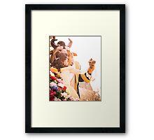 Belle & Beast Fell In Love Framed Print
