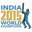 India Cricket 2015 World Champions Isolated by patrimonio
