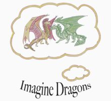 Imagine Dragons fan art with text Kids Clothes