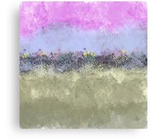Abstract Pastel Flower Garden Canvas Print