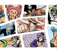 Straw hat crew by Bonedoggy101