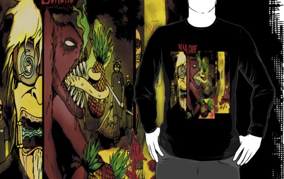T SHIRT DESIGN: MALLCARBRE COMIC by morphfix