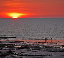 Sunset over the Indian Ocean, Cable Beach.  Broome, Western Australia by Adrian Paul