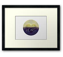 Take Heart Framed Print