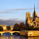 Notre Dame &amp; Seine River by Mick Burkey