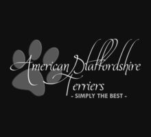 American Staffordshire Terriers - Simply The Best (Dark Colors) by Helen Green