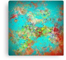 Abstract Garden with Garden Splash Canvas Print