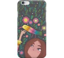 RAINBOW BIRD AND GIRL iPhone Case/Skin