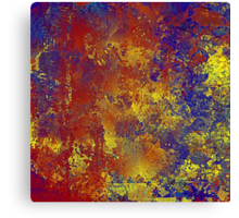 Abstract in Blue, Red, and Gold Canvas Print