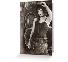 Vintage Steampunk Greeting Card