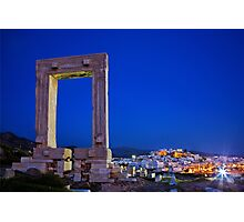 The Portara & the Chora - Naxos island Photographic Print