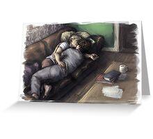 Johnlock Cuddle Nap Greeting Card