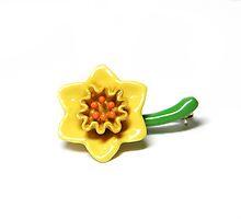 Daffodil Brooch by priddylaydee