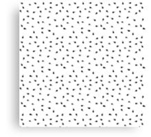 Modern abstract black white paint polka dots  Canvas Print