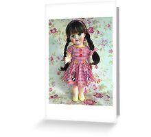 1950s English hard plastic walker doll Greeting Card