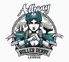 Albany Roller Derby League Logo Kids Clothes