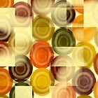 Dots rectangles in orange by RosiLorz
