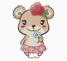 Kawaii Spring Time Flower Bear Kids Clothes