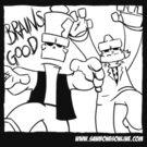 Brains - Gooood.  white version by Sockpuppet