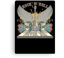 Rock n Roll Will Never Die Canvas Print