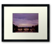 ZURICH - Bridge over Limmat Framed Print