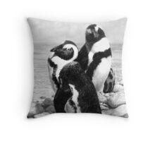 A Pair of Penguins - African Penguins Throw Pillow