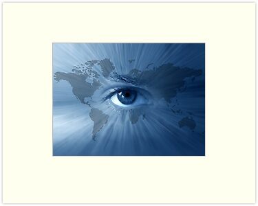 World-map and  blue eye by Olga Altunina