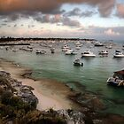 Packed Bay - Rottnest island, Western Australia. by Heather Linfoot