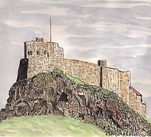 Lindisfarne Castle by GEORGE SANDERSON