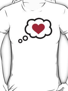 Speech bubble red heart T-Shirt