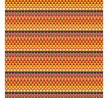 Colorful repeating geometrical stripes Photographic Print