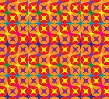 vibrant pattern in warm tones by Deanora