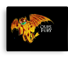 Ours is the Fury - Night Fury How to Train Your Dragon (orange) Canvas Print