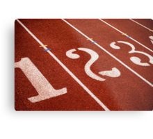 1,2,3 GO Track and Field Metal Print