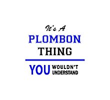 It's a PLOMBON thing, you wouldn't understand !! Photographic Print