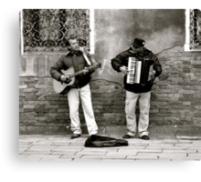 BUSKERS AT WORK (CREATIVITY) Canvas Print