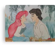 The Little Mermaid Watercolor Canvas Print
