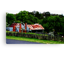 Old Cottages, Hill End Canvas Print