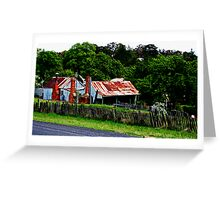 Old Cottages, Hill End Greeting Card
