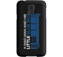 a Mad Man and his Little Blue Box Samsung Galaxy Case/Skin